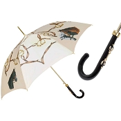 Pasotti Creme White Beautiful Horses Women's Umbrella