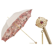 Pasotti Women's Classic Pink and Ivory Jewel Umbrella