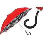 Pasotti Bright Red Polka Dots Women's Umbrella