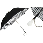 Pasotti Black and White Polka Dots Women's Umbrella