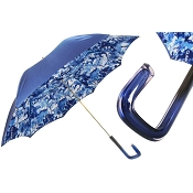 Pasotti Blue with Models Collage Print Women's Umbrella