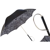 Pasotti Black Brush Stroke Print Women's Umbrella