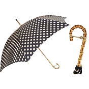 Pasotti Bamboo Handle Polka Dot Women's Umbrella