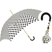 Pasotti White with Black Polka Dots Women's Umbrella