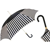 Pasotti Black with Striped Band Women's Umbrella