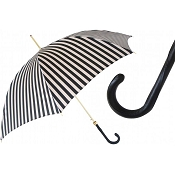 Pasotti Black and White Striped Women's Umbrella