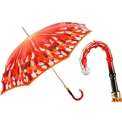 Pasotti Women's Classic Orange Brushstrokes Umbrella