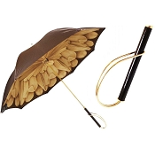 Pasotti Brown Dahlia Flowered Women's Umbrella