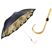 Pasotti Black with Sandy Dahlia Flowered Women's Umbrella