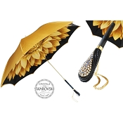 Pasotti Luxury Gold Dahlia Flowered Women's Umbrella