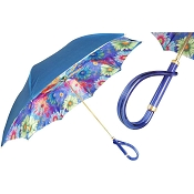 Pasotti Blue Colorful Sunflowers Flowered Women's Umbrella