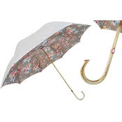 Pasotti White Romantic Flowers Women's Umbrella