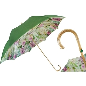 Pasotti Green and Pink Roses Flowered Women's Umbrella