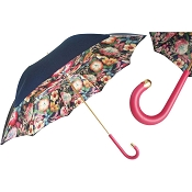 Pasotti Navy Top Interior Flowers Women's Umbrella