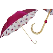 Pasotti Exclusive Fuchsia Flowered Print Women's Umbrella