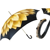 Pasotti Gold Dahlia Flowered Women's Umbrella