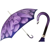 Pasotti Purple Dahlia Flowered Women's Umbrella