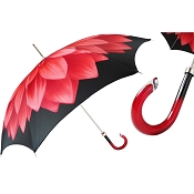 Pasotti Red Dahlia Flowered Women's Umbrella