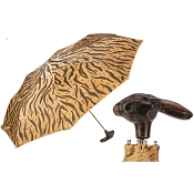 Pasotti Animalier Women's Folding Umbrella with Rabbit Handle