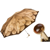 Pasotti Beige Dahlia Women's Folding Umbrella