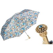Pasotti Blue Flowers Women's Folding Umbrella
