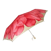 Pasotti Red Dahlia Women's Folding Umbrella