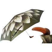 Pasotti Green Dahlia Flower Toucan Women's Folding Umbrella