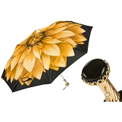 Pasotti Golden Flower Beautiful Women's Folding Umbrella