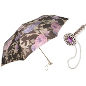Pasotti Beautiful Italian Flowered Women's Folding Umbrella