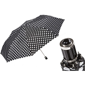 Pasotti Black and White Polka Dots Women's Folding Umbrella