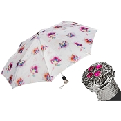 Pasotti Luxury Flowered Women's Folding Umbrella