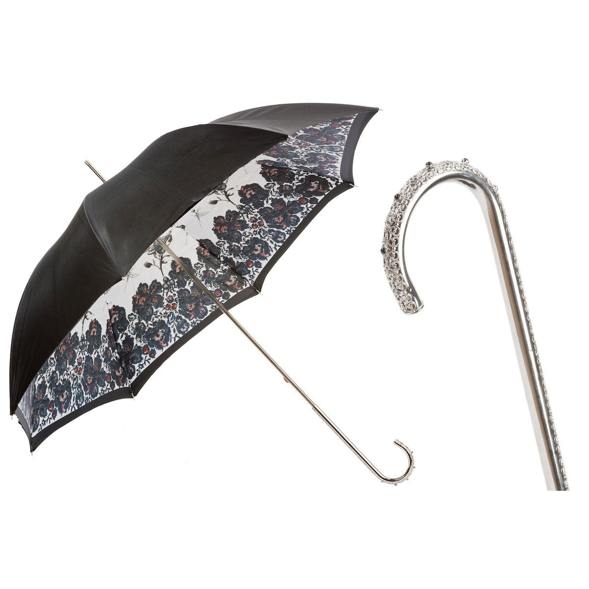 Pasotti Ombrelli Beautiful Italian Luxury Women's Umbrella - Metal Handle