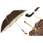 Pasotti Ombrelli Jewel with Hand Sewn Pearls Luxury Women's Umbrella