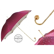 Pasotti Ombrelli Burgundy Swarovski® Luxury Women's Umbrella