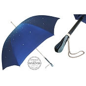 Pasotti Ombrelli Blue Swarovski® Luxury Women's Umbrella