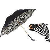 Pasotti Ombrelli Enameled Zebra Luxury Women's Umbrella
