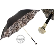 Pasotti Ombrelli Floral Doodles Leaves Swarovski® Luxury Women's Umbrella