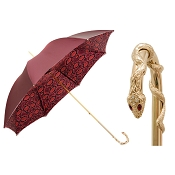 Pasotti Ombrelli Red Python Luxury Women's Umbrella