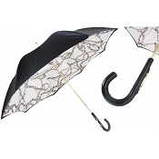Pasotti Ombrelli Black Luxury Women's Umbrella - Chains Print