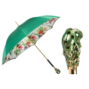 Pasotti Ombrelli Tropical Luxury Women's Umbrella - Frog Handle
