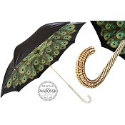 Pasotti Ombrelli Peacock Luxury Women's Umbrella - Swarovski® Handle