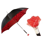 Pasotti Ombrelli Black Amore Romance Rosa Luxury Women's Umbrella