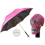 Pasotti Ombrelli Crazy Camo Swarovski® Skull Luxury Women's Umbrella