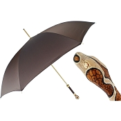 Pasotti Ombrelli Brown Snake Luxury Women's Umbrella