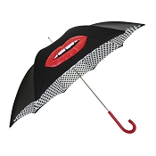 Pasotti Ombrelli Mouth with Polka Dots Luxury Women's Umbrella