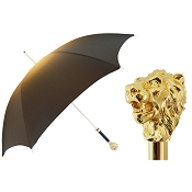 Pasotti Ombrelli Iconic Golden Lion Luxury Women's Umbrella