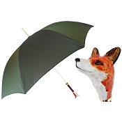 Pasotti Ombrelli Dark Green Luxury Fox Women's Umbrella