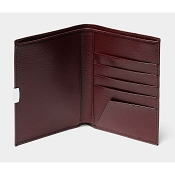Pineider 1949 Leather Passport Holder Wallet - Bordeaux