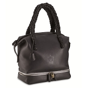 Pineider Cervinia Deerskin Leather Shopping Tote Bag
