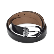 Pineider 1949 Leather Belt with Round Buckle